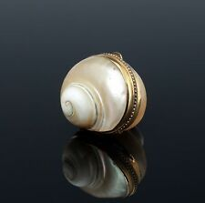 Rare nacre tabatiere 1840 escargots Boîtier mother of pearl snuffbox