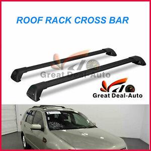 2x Black Aerodynamic Cross Bar Roof Rack for Ford Territory 2004 - 19 Fix Point