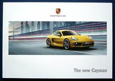 Prospekt brochure New Porsche Cayman (estados unidos, 2013)
