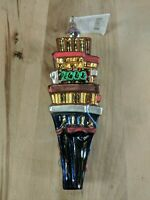 1999 Radko Ornament Times Square Happy New Year 2000 Count Down 99-284-0