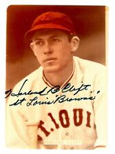 Harlond Clift  D.1992 Signed Auto St Louis Browns 3.5 x 5 Photo -100% GUARANTEED
