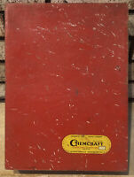 Chemcraft Porter Chemical Chemistry Outfit  EMPTY Red Wood Box vtg Made in USA