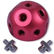 "Magic Ball Head+2x 1/4-3/8""Adapter Screw for Light Stand Flash Umbrella Bracket"