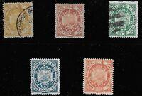 Bolivia Scott #40-42, 44 & 46, Singles 1894 FVF Used