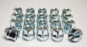 "Set of 20 x 1/2"" UNF, 19mm Hex Open Alloy Wheel Nuts (Silver)"