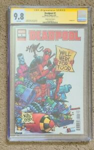 """Deadpool #1 1:25 CGC SS 9.8 signed Skottie Young Variant Cover """"A"""""""