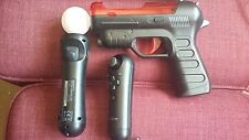 PLAYSTATION VR & PS4 MOVE MOTION CONTROLER & NAVIGATION CONTROLER & MOVE GUN