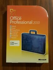 NEW SEALED GENUINE Microsoft Office Professional 2010 for 2 PC RETAIL BOX