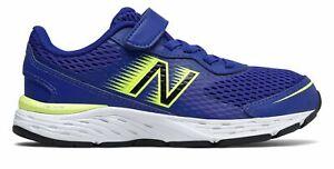 New Balance Kid's 680v6 Big Kids Male Shoes Blue with Green & Black