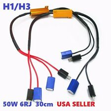 H1/H3 T50W 6RJ Canbus Error Free Load Resistor Decoder Canceller Car HID LED