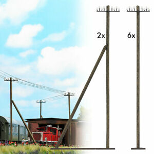 Telegraph Poles HO scale accessories Busch 1499
