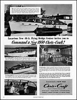Chris Craft Boats 36-ft Cruiser 1945 WWII-era Vintage Poster