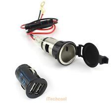 12V 120W Cigar Cigarete Lighter Car Charger Plug Socket Adapter Dual USB Ports