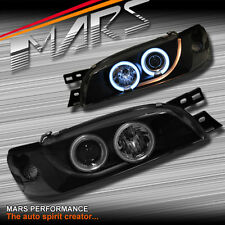 Black CCFL Angel-Eyes Projector Head Lights Subaru Impreza 94-00 GC8 GF8 WRX STi