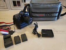 Canon EOS D60 con zoom 28-80mm y accesorios.
