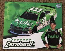 2017 Jeffery Earnhardt Signed Hulu Postcard NASCAR autograph COA Hero Card Flip