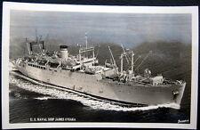 **1940's NAVY BATTLE SHIP ~ U. S. S.  JAMES O'HARA ~ Real Photo PC  RPPC