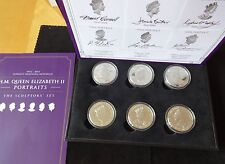 2015 6 X B/U PROOF JERSEY £5 COINS BOX + COA SCULPTORS SET LONGEST REIGNING MONA