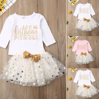 Newborn Toddler Baby Girl Birthday Party Pageant Tutu Dress Sundress Clothes US