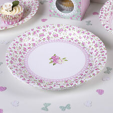 Frills Spills 8 Plates Tableware Vintage Chic Tea Party or Wedding
