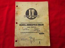 Vintage I & T Minneapolis Moline & Oliver Shop Manual-Original