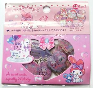 Pack of 45 *My Melody* kawaii Japanese stickers