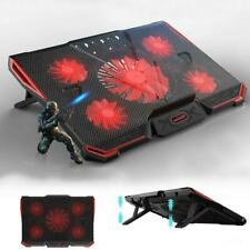 """11-17"""" Gaming Laptop USB Fan Cooler with 5 Fan Dual USB Adjustable Cooling Pad"""