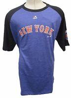 New York Mets Big & Tall Short Sleeve T-Shirt MLB Majestic Blue 2XL 5XL