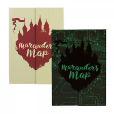 HARRY POTTER GLOW IN THE DARK MARAUDERS MAP A5 NOTEBOOK NOTE PAD SCHOOL BOOK