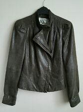 REISS LADIES LEATHER JACKET SIZE 6 US 2 WORN ONLY A FEW TIMES