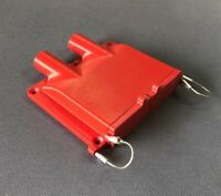 Red Double Anderson SB50 50amp Plug Surface Cover (External Wire Version)