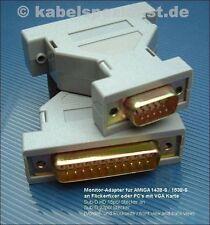 Amiga monitor 1438s/1538s VGA adaptador 23pol St. - > 15pol HD-St.