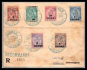 GP GOLDPATH: ALBANIA REGISTERED COVER 1914, TO GERMANY CV567_P07