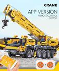 Remote Control Crane Model High-Tech Engineering Building Blocks Bricks Toys