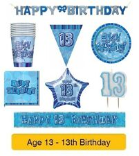 AGE 13 - Happy 13th Birthday - Party Balloons Banners & Decorations - Pink/Girl