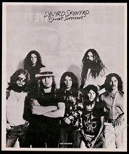 1977 Lynyrd Skynyrd photo Street Survivors album release vintage print ad