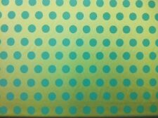 Quality Turquoise & Gold Satin Spot Pattern Fabric - Curtains, Upholstery