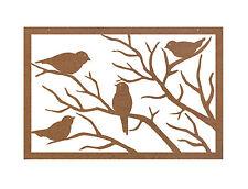 Sparrow Metal Garden Wall Art Panel one - Australian Made