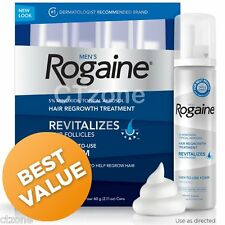 4 Months Rogaine Foam Men's Revitalizes Hair Unscented 5% Minoxidil for Men