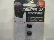 """BLMA N SCALE """"CARRIER"""" REEFER UNIT (2)  FITS TRAILERS & FREIGHT CARS"""