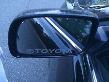 Toyota Side Mirrors Windows Etch Vinyl Logos sticker decal - Camry, Tundra,