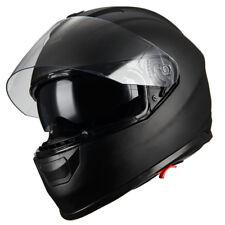 1Storm Motorcycle Full Face Helmet Dual Lens Sun Visor Monster Matt Black
