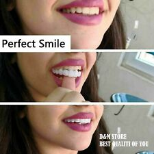 2PCs Upper+Bottom Teeth Whitening Snap On Instant Smile Comfort Fit Flex Veneers