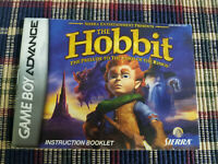 The Hobbit - Authentic - Nintendo Game Boy Advance - GBA - Manual Only!