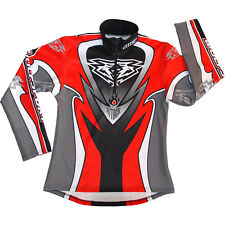 child kids 8-10 years Red BLACK grey white attack Trials Shirt Top wulfsport ose