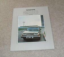 Volvo 260 Series Brochure 1979 - 264 GL 264 GLE 265 GL 265 GLE 262C Coupe