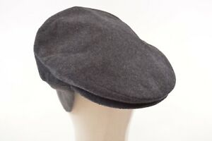 Doria Gruppo Borsalino NWT Wool Blend Newsboy w/Flaps Italy Gray 7 3/4, 60, XL