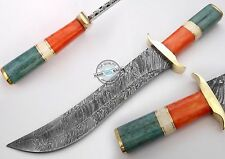 "15.00"" Custom Made Beautiful Damascus Steel Bowie hunting Knife (A965)"
