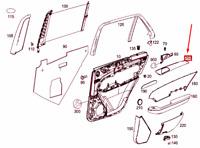MERCEDES-BENZ GLE W166 Rear Right Door Trim Strip A1667301022 NEW GENUINE