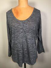 Wilfred Free Aritzia Women's Gray Burnout 3/4 Sleeve T Shirt Top Size L